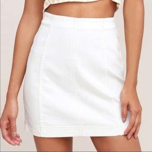 White Free People Modern Femme Skirt